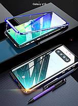 Магнитный чехол Full Glass 360 (Magnetic case) для Samsung Galaxy S10 Plus, фото 3