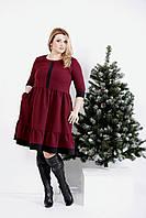Бордовое платье из вискозы | 0988-3 GARRY-STAR