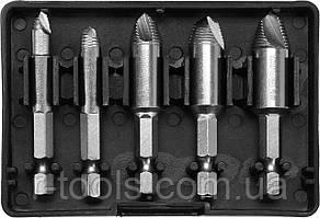 """Набор экстракторов сломленных винтов 5 шт  HEX- 1/4"""" HSS 4241 Yato YT-06035"""