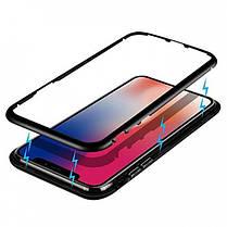 Магнитный чехол Full Glass 360 (Magnetic case) для Iphone X / XS, фото 3