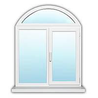 Двухстворчатое окно с поворотно-откидной створкой Steko S500, нар. Лам. 1300х1600 с энергосбережением
