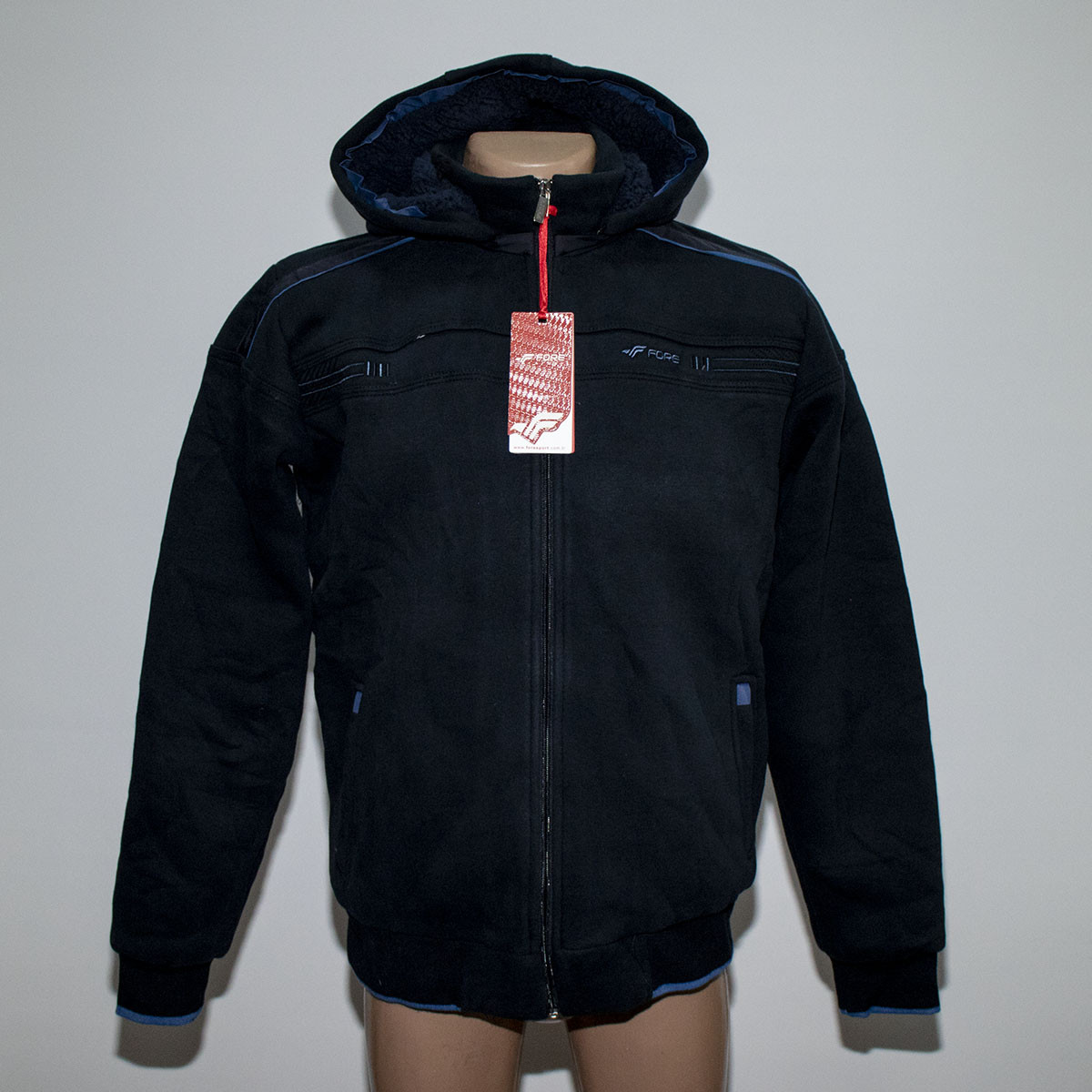 Теплая мужская куртка трехнитка на овчинке пр-во Турция т.м. Fore 5342