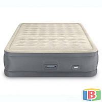 Надувне ліжко Intex Розмір 152х203х46 система автоподкачки PremAire. Двоспальне