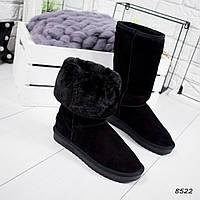Угги женские черные высокие , женская обувь