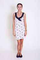 Трикотажное  платье для сна Nicoletta, фото 1