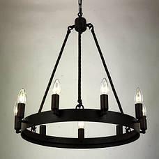 Чёрная металлическая люстра (56-PR9563-9 ВК), фото 2