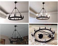 Чёрная металлическая люстра (56-PR9563-9 ВК), фото 3