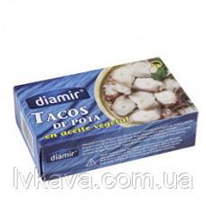 Осьминог в подсолнечном масле Tacos de porta en aceite vegetal  Diamir, 111 гр