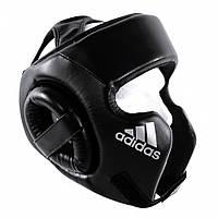 Шлем боксерский тренировочный Adidas Cheek Protection, черный с белым