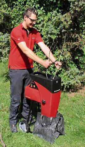 Шредер садовый GC-RS 2540, 2500 Вт, диам. 40 мм, фреза, низкошумный, фото 2