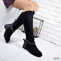 Сапоги женские  Leire черные , женская обувь
