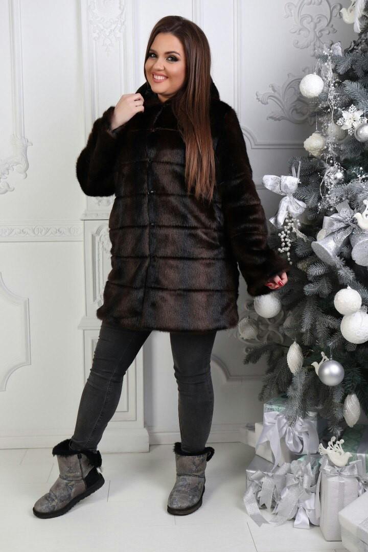 Женская стильная шуба  АЧ208 (бат)