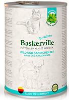 Влажный корм Baskerville Holistic оленина/кролик для взрослых кошек всех пород 400 гр.  х 24 шт