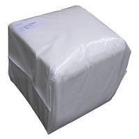 Салфетки одноразовые нарезные 20х20 (100 шт) белые гладкие