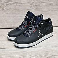 Синие  кроссовки в стиле Jordan натуральная кожа, фото 1