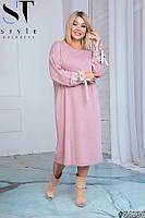Платье женское осеннее теплое ангоровое батальные размеры 48 - 52 54-58