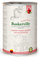 Влажный корм Baskerville Sensitive ягненок/клюква/кошачья мята для взрослых кошек всех пород 400 гр. х 24 шт