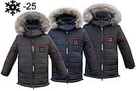 Детские зимние куртки и пуховики для мальчиков на овчинке