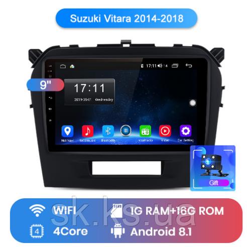 Junsun 4G Android магнитола для Suzuki vitara 2014 2015 2016 2017 2018 2019 wifi