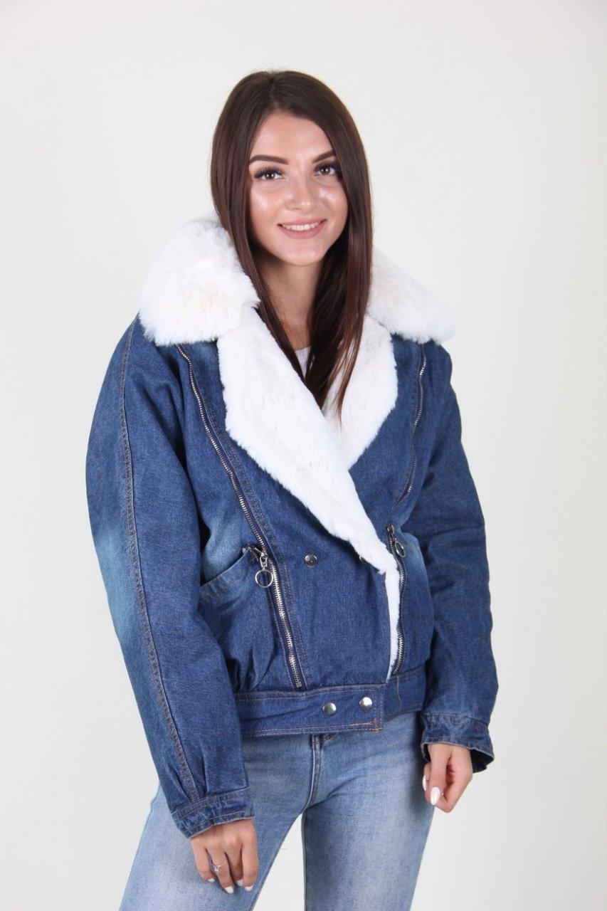 Теплая джинсовая куртка 923-23