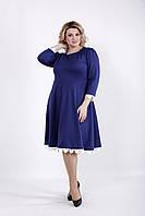 Платье до колена из французского трикотажа | 01032-2 GARRY-STAR