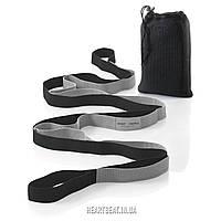 Ремень для растяжки Sport2People Yoga Strap Black (12 петель)
