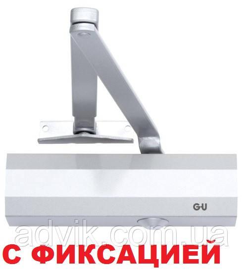 Доводчик G-U OTS 210 (230) с фиксацией (белый)
