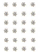 Серьги - гвоздики,12 пар, фирма Xuping.Камни: белый циркон. Цвет: позолота. Диаметр серьги 3,5 мм.