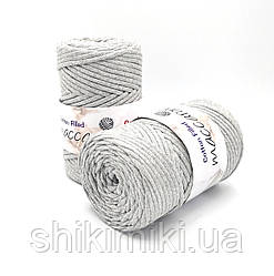 Трикотажный хлопковый шнур Cotton Filled 5 мм, цвет Светло-серый