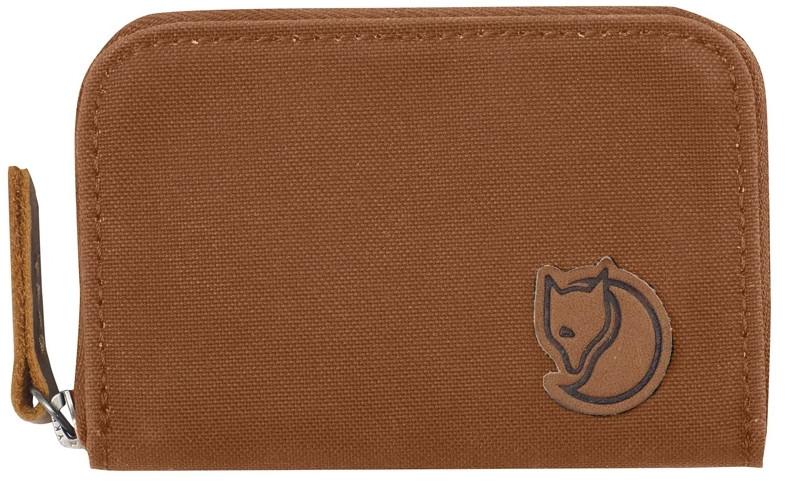 Тканевый картхолдер Fjallraven Zip Card Holder коричневый
