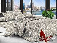 Комплект постельного белья полуторный XHY4547 ТМ TAG 1,5-спальный, постельное белье полуторка
