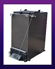 Холмова BIZON 25 квт  4 мм сталь FS-Eco. Твердотопливный котел длительного горения. Котел Бизон