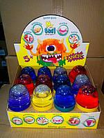 Лизун-Антистресс ТМ Mr.Boo с блёстками (100 г) А80003 (7 цветов)