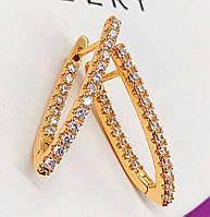 Женские серьги, медицинское золото XР