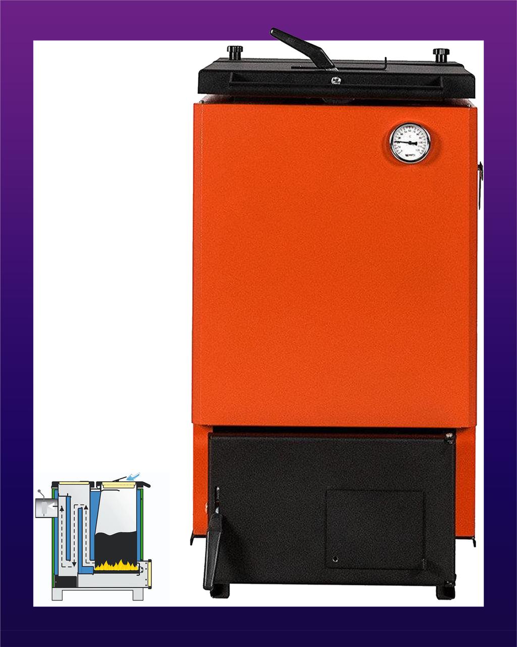 Твердотопливный котел шахтного типа Макситерм Классик (12 кВт)