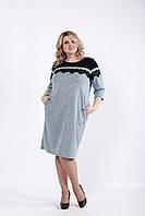 Бирюзовое трикотажное платье из ангоры | 01047-3 GARRY-STAR