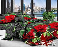 Комплект постельного белья евро XHY621 ТМ TAG Evro, постельное белье Евро