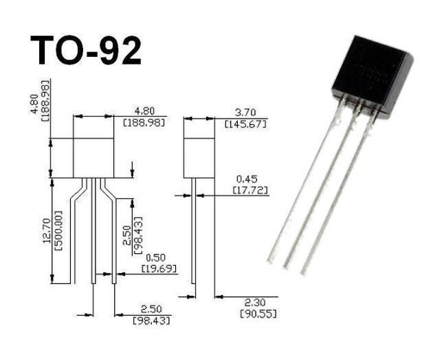 Транзистор биполярный SS9018H TO-92 NPN; 30V; 0.05A; 0.4W