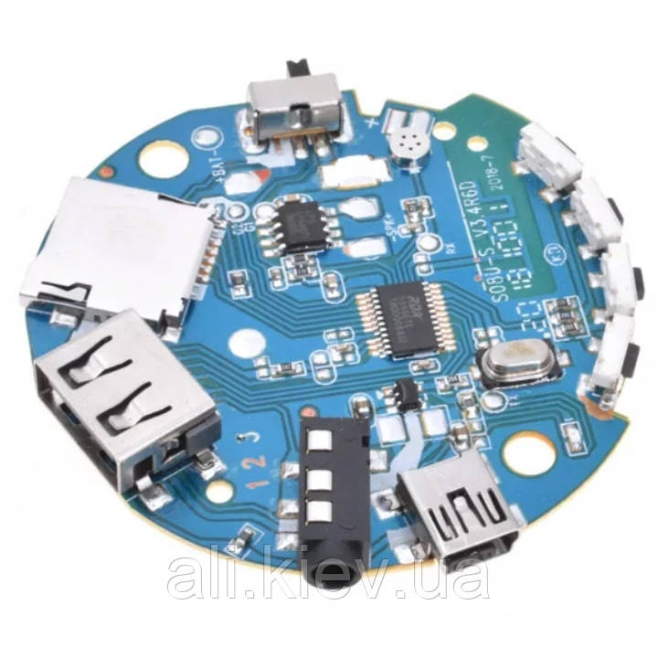 Аудіо підсилювач приймач  з Bluetooth USB Aux MP3 декодер 3.7-5V 3Вт Багатофункціональний