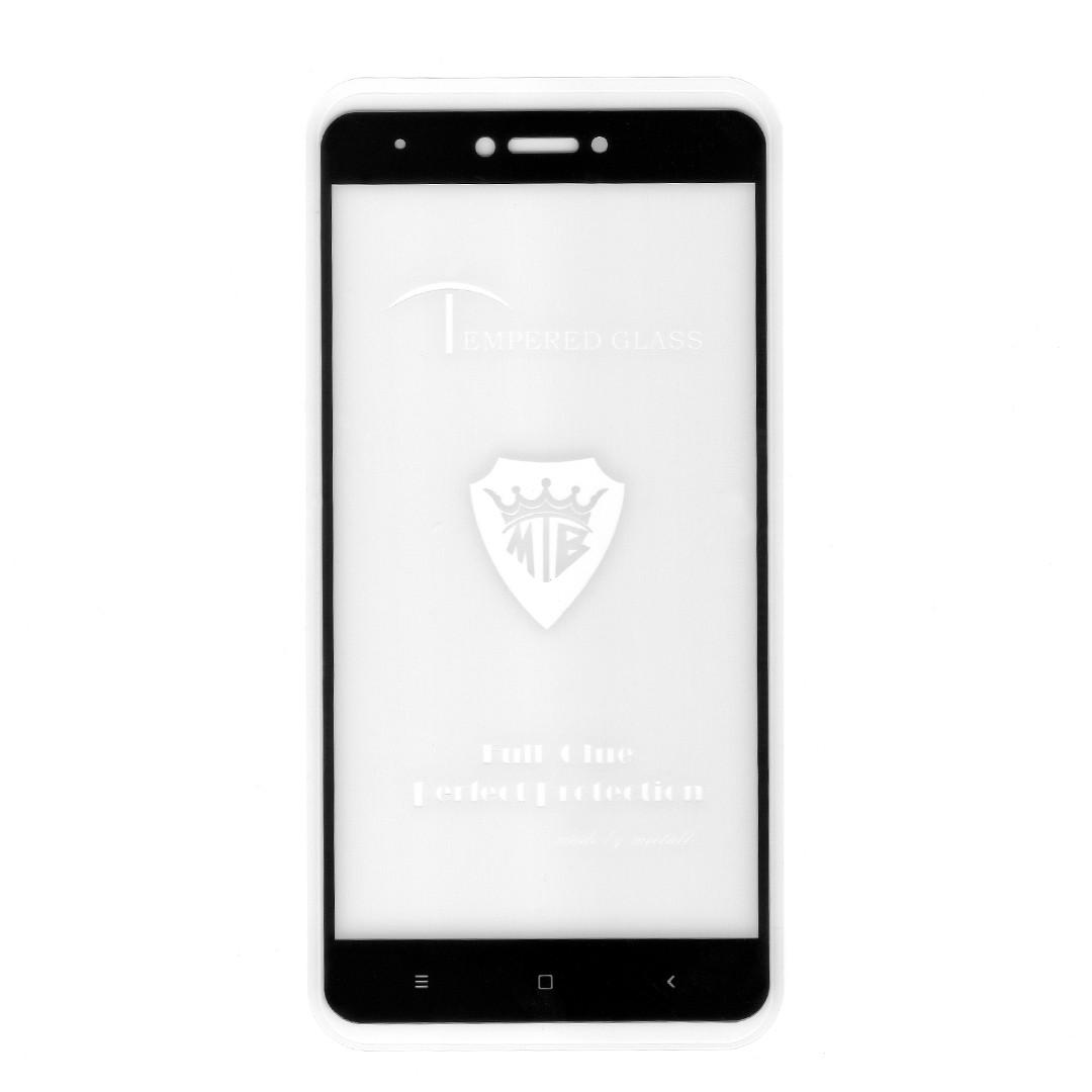Защитное стекло Mietubl Full Glue для Xiaomi Redmi Note 4X, Note 4 Global (black) (клеится всей поверхностью)