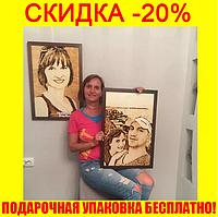 Картина по фото.Портрет по фото.Купить портрет.Портрет на дереве.