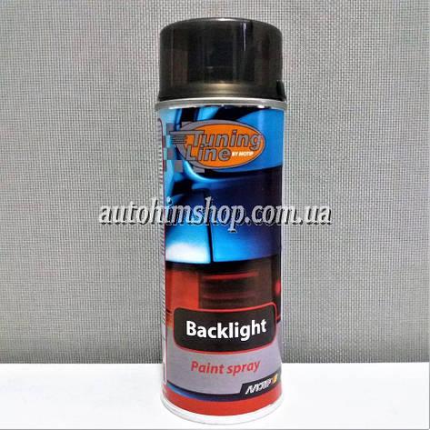 Лак тонировочный для пластиковых фар Motip черный 400 мл, фото 2