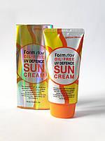 Солнцезащитный крем SPF 50+ PA +++FarmstayOil-Free Uv Defence Sun Cream