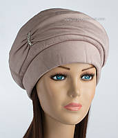 Зимняя женская шапка Флеш пудра