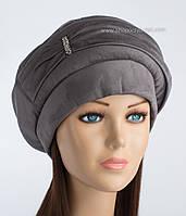 Красивая женская шапка Флеш серая