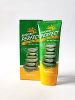 Солнцезащитный крем с алоэ SPF50+ PA+++Aloevera Perfect Sun Cream FarmStay 70ml