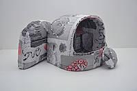Будка для котов и собак бязь №0 305х270х270, Домик