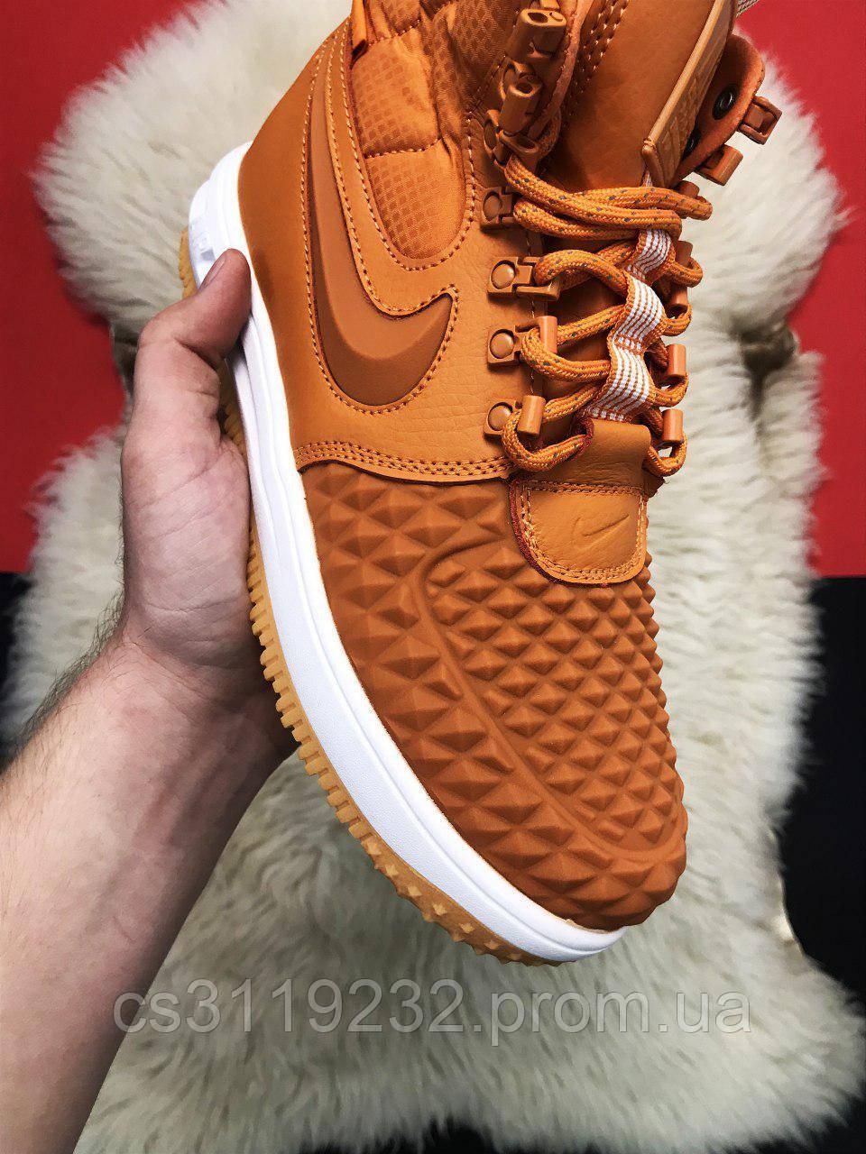 Мужские кроссовки Nike Lunar Force 1 Duckboot 17 (коричневые)