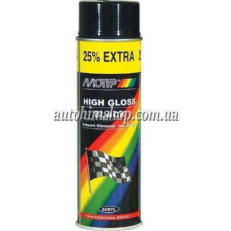 Краска акриловая Motip черная 500 мл, фото 2