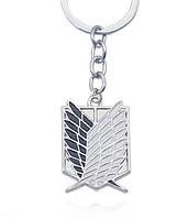Брелок Атака титанов Attack on Titan Logo серебро